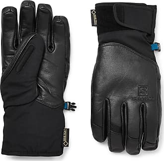 Salomon Qst Leather And Gore-tex Ski Gloves - Black