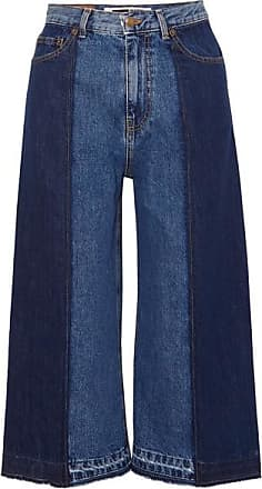 McQ by Alexander McQueen Two-tone Denim Culottes - Mid denim