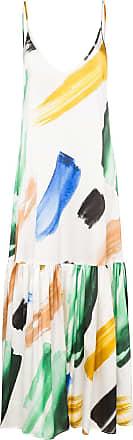 We are Leone Elke brush stroke-print silk maxi dress - Branco