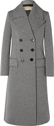 Burberry Manteau En Tweed De Laine Mélangée À Chevrons - Gris 01d16e623638