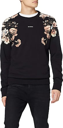 Religion Mens Flower Sweat Sweatshirt, Black (Black 001), X-Large (Size:XL)