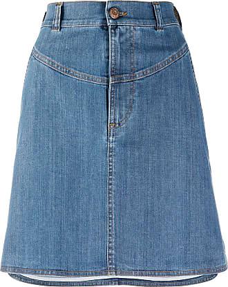 See By Chloé Saia jeans com bainha assimétrica - Azul