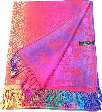 CJ Apparel Orange Elephant Design Shawl Scarf Wrap Stole Pashmina Seconds *NEW*(Size: One Size)