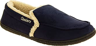 Footwear Studio Mens Coolers Blue Faux Suede Full Back Padded Cosy Slippers UK 11-12