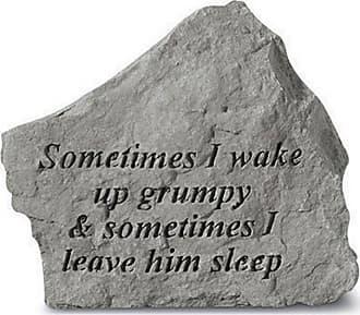 Kay Berry Sometimes I Wake Up Grumpy Garden Accent Stone - 72320