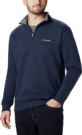 Columbia mensAM6771Hart Mountain Ii Half Zip Long Sleeve Pullover Sweater - Blue - S