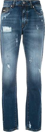 John Richmond Calça jeans skinny com efeito desbotado - Azul