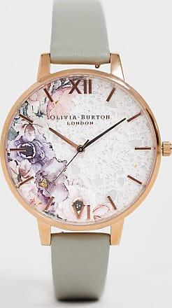 Olivia Burton quartz floral watch in rose gold-Grey