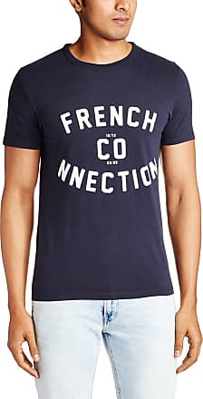 French Connection Mens SS17 French CO-NNECTION Slim T-Shirt, Blue (Marine Blue 40), L