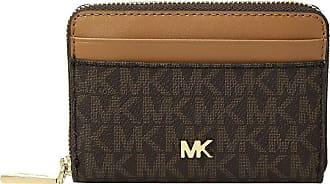 283809a6c085 Michael Kors Zip Around Coin Card Case (Brown/Acorn) Credit card Wallet