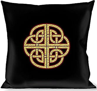 Buckle Down Pillow Decorative Throw Celtic Knot Black Burgundy Gold