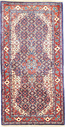 Nain Trading 135x71 Sarouk Rug Runner Dark Grey/Pink (Iran/Persia, Wool, Hand-Knotted)
