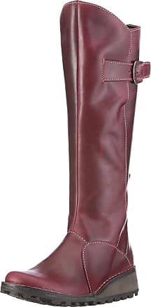 FLY London Fly london Mol 2 Purple Leather Womens Knee Hi Boots-38