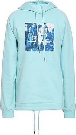 Opening Ceremony Opening Ceremony Woman Printed Cotton-fleece Hooded Sweatshirt Sky Blue Size XS
