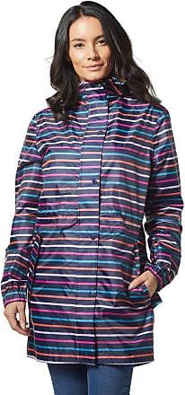 Joules Womens Golightly Packaway Waterproof Jacket - Navy Stripe UK 20 Navy Stripe