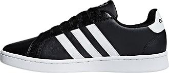 adidas Grand Court Sneaker Herren in core black, Größe 42 2/3