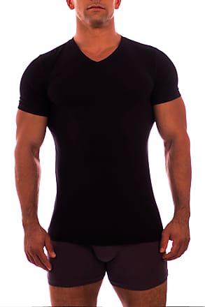 Obviously Mens Essence V-Neck Short Sleeve Undershirt - Black - Extra Large