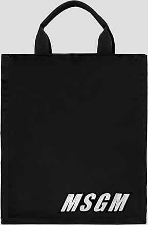 Msgm embroidery logo shoppper bag