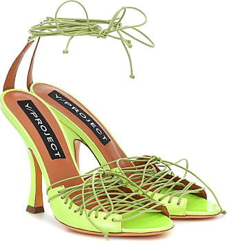 Y / Project Lace-up leather sandals