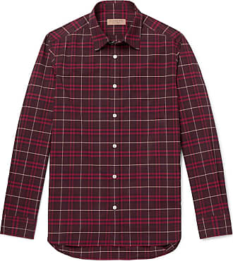 Burberry Checked Cotton-poplin Shirt - Red