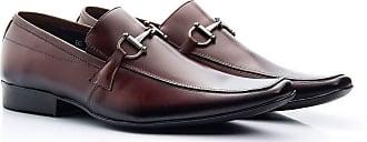 Di Lopes Shoes Sapato Social de Couro Masculino (42, Marrom)
