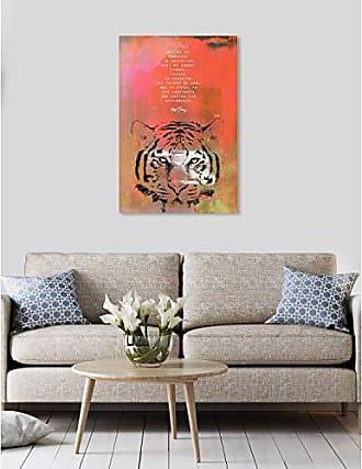 The Oliver Gal Artist Co. The Oliver Gal Artist Co. Oliver Gal Maggie P Chang-Tiger Orange Wild Animals Wall Art Print Premium Canvas 24 x 36