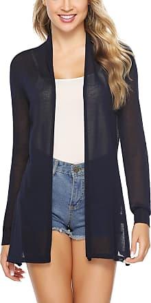 Abollria Cardigan for Women Summer Waterfall Lightweight Long Sleeve Open Front Cardigans