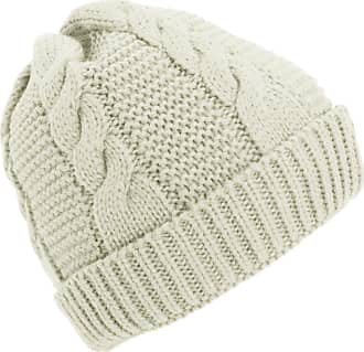Universal Textiles Ladies/Womens Cable Knit Fleece Lined Winter Beanie Hat (One Size) (Cream)