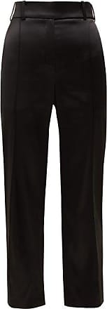 Alexandre Vauthier Slim-fit Satin Trousers - Womens - Black