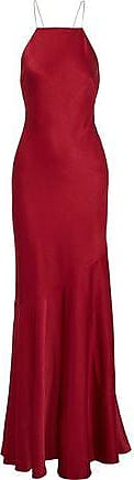 Rachel Zoe Rachel Zoe Woman Jaclyn Open-back Crystal-embellished Satin Gown Crimson Size 6