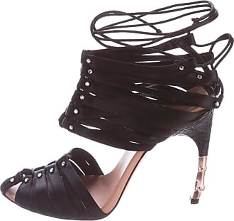 627e44f618d Tom Ford Most Wanted Tom Ford For Gucci Black Satin Crocodile Crystal  Corset Shoes 6.5