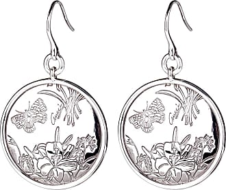 Gucci Flora Silver Drop Earrings