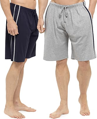 Tom Franks 2 Pack of Mens Cotton Rich Jersey Lounge Shorts Blue XX-Large
