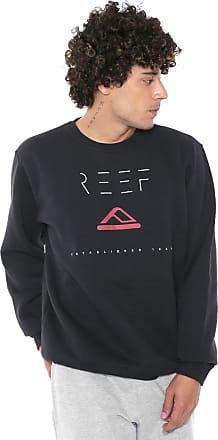Reef Moletom Flanelado Fechado Reef Minimalism Preto