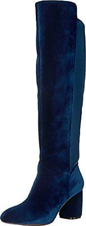 Nine West Womens KERIANNA Knee High Boot, Navy Fabric, 5.5 Medium US