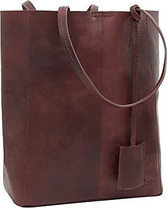 db153b44b5727 Gusti Handtasche Leder Damen Herren groß Cassidy Umhängetasche Shopper 13L  Tasche Dunkelrot Weinrot