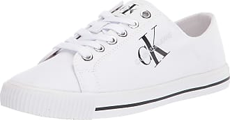 Calvin Klein Diamante Low Top Lace Up Womens Fashion Trainers in White - 7 UK