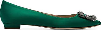 Manolo Blahnik Pumps Hangisi con spilla - Di colore verde