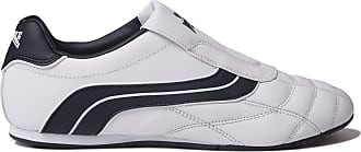 Lonsdale Mens Benn Trainers Low Slip On Stitched Detailing White/Navy UK 10.5 (45.5)