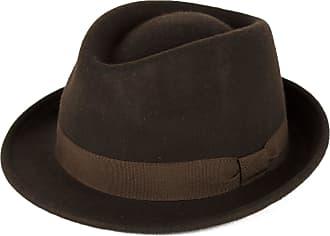 Hat To Socks Elegant Brown Wool Trilby Hat Waterproof & Crushable Handmade in Italy (Brown, 54cm)