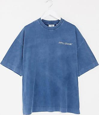Collusion Unisex - Verwaschenes Oversize-T-Shirt in Tiefblau