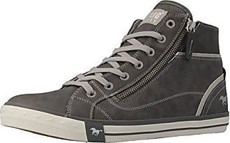 8586ed0a4673 Mustang Shoes High Top Sneaker in Übergrößen Grau 1209-502-2 große  Damenschuhe,