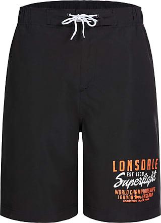 Lonsdale Mens Bideford Shorts, Black, M