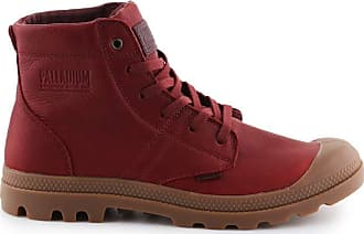 Palladium Pallabrouse Leather Mens Boots Red Size: 10 UK