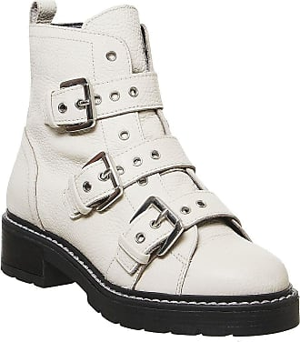 Office Alaska- Triple Buckle Boot Off White Leather - 6 UK
