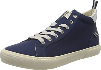 Joules Womens Coast Pump Mid Hi-Top Trainers, Blue (French Navy Frnavy), 7 (40/41 EU)