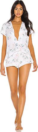 Eberjey Mothers Blossom Short PJ Set in White