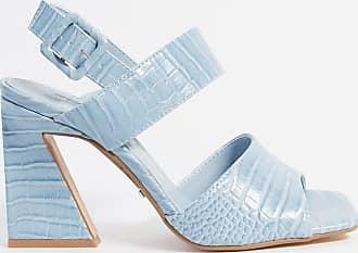 Topshop heeled sandals in light blue