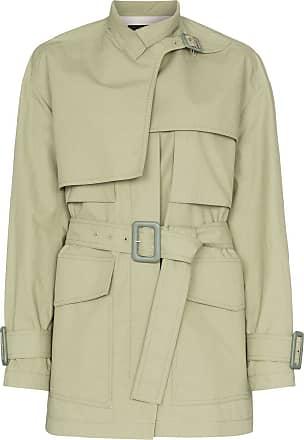 Joseph Warrwick belted short cotton trench coat - Green