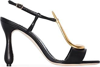 Manolo Blahnik embellished sandals - Di colore nero
